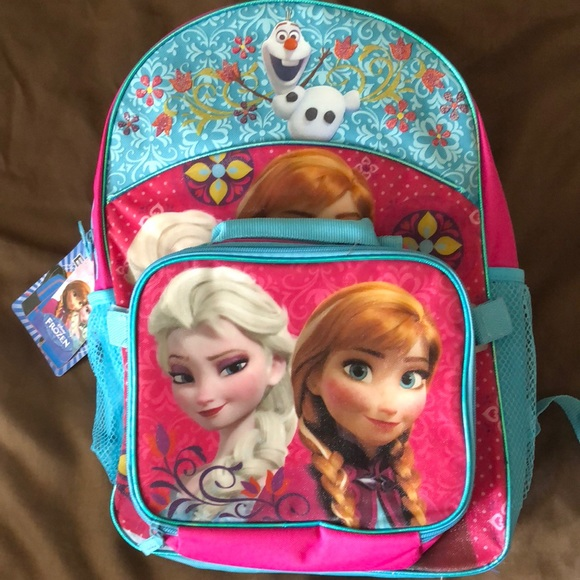 Kids Disney Anna & Elsa Frozen Backpack